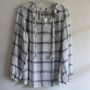 Loft plaid blouse - NWT